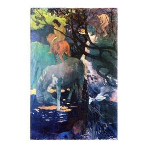 絵画 壁掛け 額縁 アートフレーム付き ポール・ゴーギャン 「白い馬」 M20A号 世界の名画シリーズ プリハード touo