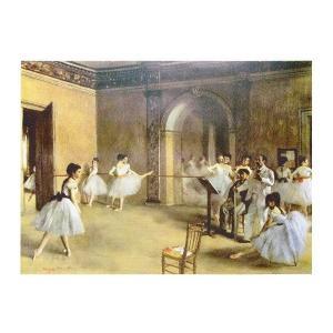 絵画 壁掛け 額縁 アートフレーム付き エドガー・ドガ 「楽屋の踊り子達」 M20A号 世界の名画シリーズ プリハード|touo