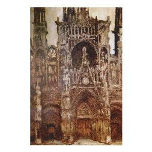 絵画 壁掛け 額縁 アートフレーム付き クロード・モネ 「ルーアンの聖堂」 M20A号 世界の名画シリーズ プリハード|touo