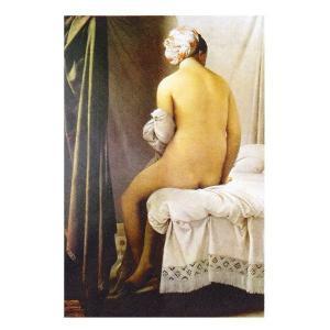絵画 壁掛け 額縁 アートフレーム付き ドミニク・アングル 「浴婦」 M20A号 世界の名画シリーズ プリハード|touo