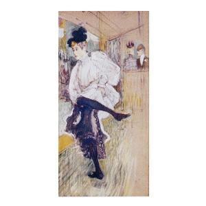 絵画 壁掛け 額縁 アートフレーム付き アンリ・ド・トゥールーズ=ロートレック 「踊るジャンヌ・アヴリル」 M20B号 世界の名画シリーズ プリハード|touo