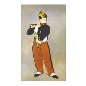 絵画 壁掛け 額縁 アートフレーム付き エドゥアール・マネ 「笛を吹く少年」 M20B号 世界の名画シリーズ プリハード touo