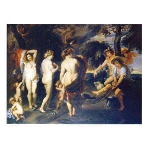 絵画 壁掛け 額縁 アートフレーム付き ピーテル・ルーベンス 「パリスの審判」 M20A号 世界の名画シリーズ プリハード|touo