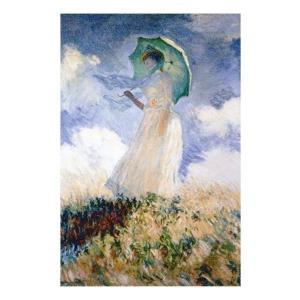 絵画 壁掛け 額縁 アートフレーム付き クロード・モネ 「パラソルをさす女」 M20A号 世界の名画シリーズ プリハード|touo