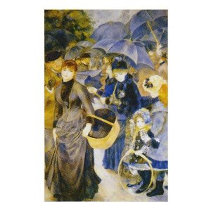 絵画 壁掛け 額縁 アートフレーム付き ピエール・オーギュスト・ルノワール 「雨傘」 M20A号 世界の名画シリーズ プリハード|touo