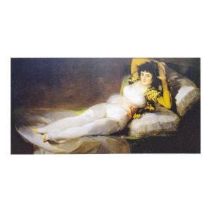 絵画 壁掛け 額縁 アートフレーム付き フランシスコ・デ・ゴヤ 「着衣のマハ」 M20B号 世界の名画シリーズ プリハード|touo