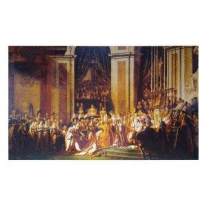 絵画 壁掛け 額縁 アートフレーム付き ジャック・ルイ・ダヴィット 「ナポレオンの載冠式」 サイズF100号 世界の名画シリーズ プリハード|touo