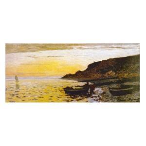 絵画 壁掛け 額縁 アートフレーム付き クロード・モネ 「サン・タドレスの海岸」 P20特寸号 世界の名画シリーズ プリハード|touo