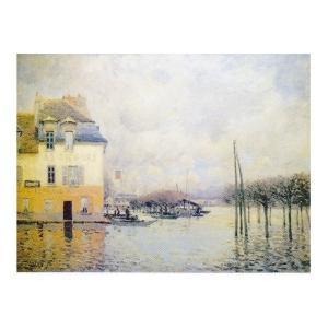 絵画 壁掛け 額縁 アートフレーム付き アルフレッド・シスレー 「ポール・マルリーの洪水」 P25号 世界の名画シリーズ プリハード|touo