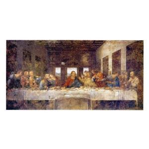 絵画 壁掛け 額縁 アートフレーム付き レオナルド・ダ・ヴィンチ 「最後の晩餐(修復前)」 20号 世界の名画シリーズ プリハード|touo