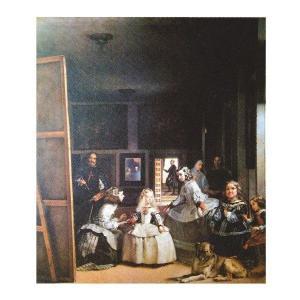 絵画 壁掛け 額縁 アートフレーム付き ディエゴ・ベラスケス 「宮廷の待女たち」 サイズF10号 世界の名画シリーズ プリハード|touo