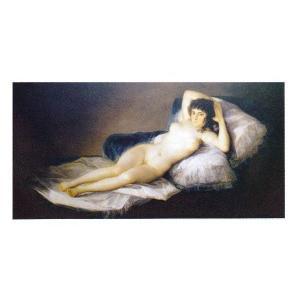 絵画 壁掛け 額縁 アートフレーム付き フランシスコ・デ・ゴヤ 「裸のマハ」 80号 世界の名画シリーズ プリハード|touo