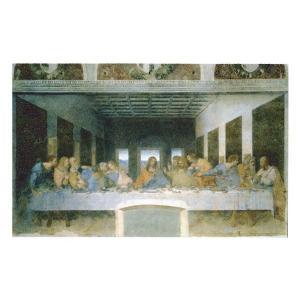 絵画 壁掛け 額縁 アートフレーム付き レオナルド・ダ・ヴィンチ 「最後の晩餐(修復後)」 20号 世界の名画シリーズ プリハード|touo