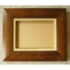 額縁 油絵額縁 油彩額縁 木製フレーム コクー サイズP4号|touo