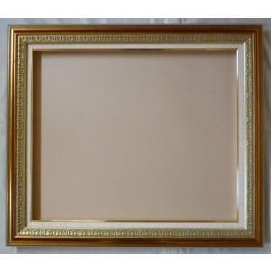 額縁 オーダーメイド額 オーダーフレーム 油絵額縁 油彩額と泥足とケース(仮縁仕上げ) クロノス サイズP50号 組寸サイズ2200|touo