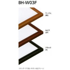 額縁 水彩額縁 木製フレーム BH-W03F サイズF8号|touo