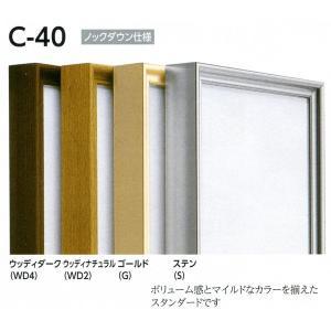 仮縁 正方形の額 アルミフレーム C-40 サイズS0号|touo