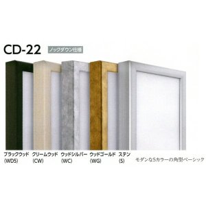 仮額縁 正方形の額縁 アルミフレーム CD-22 サイズS3号|touo