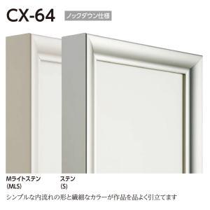 仮縁 正方形の額 アルミフレーム CX-64 サイズS6号|touo