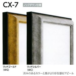 仮額縁 正方形の額縁 アルミフレーム CX-7 サイズS3号|touo
