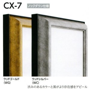 仮縁 正方形の額 アルミフレーム CX-7 サイズS6号|touo