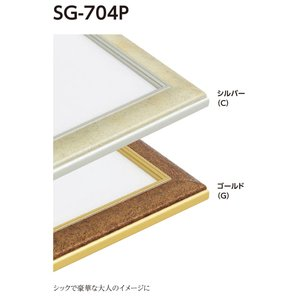 額縁 水彩額 アルミフレーム (大サイズ 軽量タイプ) SG-704P サイズ30F|touo