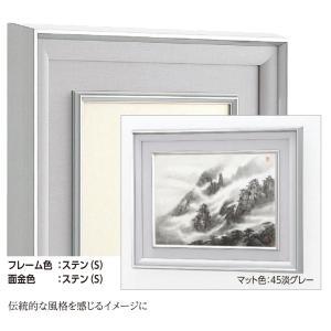 和額縁 日本画額縁 フレーム アルミ製 W-47 ステン サイズP8|touo