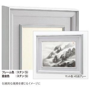 和額縁 日本画額縁 フレーム アルミ製 W-47 ステン サイズP80|touo