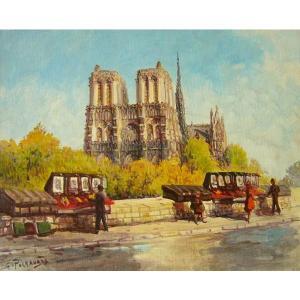 ヨーロッパ絵画 油絵 肉筆絵画 壁掛け (額縁 アートフレーム付きで納品対応可) サイズF6号 ペチャウベス作 「パリ」|touo
