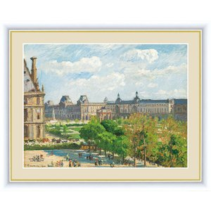 高精細デジタル版画 世界の名画 カミーユ・ピサロ 「カルーゼル広場、パリ」 写真立て仕様|touo
