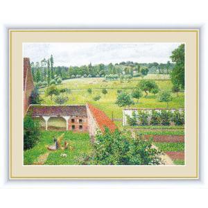 高精細デジタル版画 世界の名画 カミーユ・ピサロ 「部屋の窓からの眺め」 写真立て仕様|touo