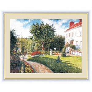 高精細デジタル版画 世界の名画 カミーユ・ピサロ 「マチュランの庭 ポントワーズ、ドレーム夫人の邸宅」 写真立て仕様|touo