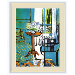 高精細デジタル版画 世界の名画 アンリ・マティス 「窓:忘れな草の室内」 写真立て仕様|touo