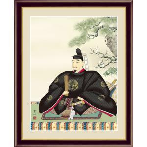 絵画 高精細デジタル版画 インテリア 壁掛け 額縁付き 日本画 清水雲峰作 「天神」 写真立て仕様 touo