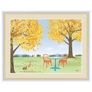 絵画 高精細デジタル版画 インテリア 壁掛け 額縁付き 鈴木 みこと作 「どんぐりの木」 写真立て仕様|touo