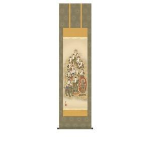 掛け軸 掛軸 純国産掛け軸 床の間 佛画 「十三佛」 清水雲峰 尺三 化粧箱付|touo