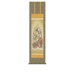 掛け軸 掛軸 純国産掛け軸 床の間 佛画 「十三佛」 山村観峰 尺三 化粧箱付|touo