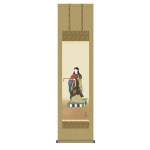 掛け軸 掛軸 純国産掛け軸 床の間 佛画 「聖徳太子」 田村竹世 尺三 化粧箱付|touo