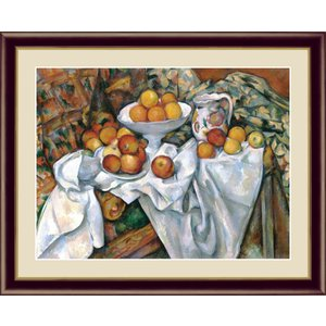 絵画 高精細デジタル版画 インテリア 壁掛け 額縁付き 名画ポール・セザンヌ 「林檎とオレンジ」 写真立て仕様|touo