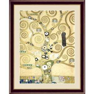 絵画 高精細デジタル版画 インテリア 壁掛け 額縁付き 名画グスタフ・クリムト 「生命の樹」 F4|touo