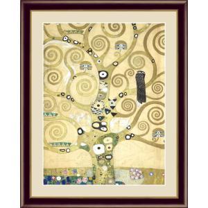絵画 高精細デジタル版画 インテリア 壁掛け 額縁付き 名画グスタフ・クリムト 「生命の樹」 F6|touo