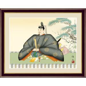 絵画 高精細デジタル版画 インテリア 壁掛け 額縁付き 日本画 奥居佑山作 「天神」 写真立て仕様|touo