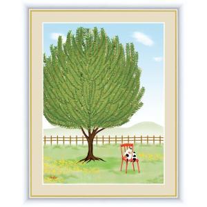 絵画 高精細デジタル版画 インテリア 壁掛け 額縁付き 鈴木 みこと作 「月桂樹」 写真立て仕様|touo