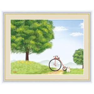 絵画 高精細デジタル版画 インテリア 壁掛け 額縁付き 鈴木 みこと作 「けやきの木」 F4|touo