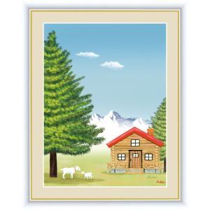 絵画 高精細デジタル版画 インテリア 壁掛け 額縁付き 鈴木 みこと作 「もみの木」 写真立て仕様|touo