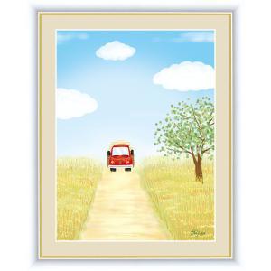 絵画 高精細デジタル版画 インテリア 壁掛け 額縁付き 喜多 一作 「麦畑」 写真立て仕様|touo