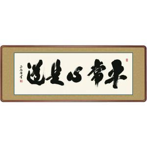 和額 高精細巧芸画 仏書扁額 黒田 正庵 「平常心是道」 尺五 touo