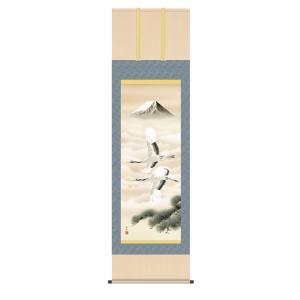 掛け軸 高精細巧芸画 純国産掛け軸 慶祝画 田村 竹世 「富岳飛翔」 尺五|touo