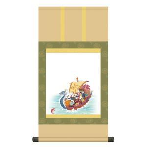 掛け軸 納経集印掛軸 純国産掛け軸 七福神巡礼|touo