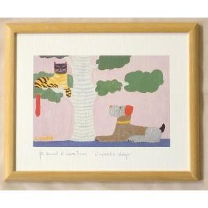 絵画 インテリア アートポスター 壁掛け ヨーロッパ製 (額縁 アートフレーム付き) 八ッ切サイズ -13-特価-|touo
